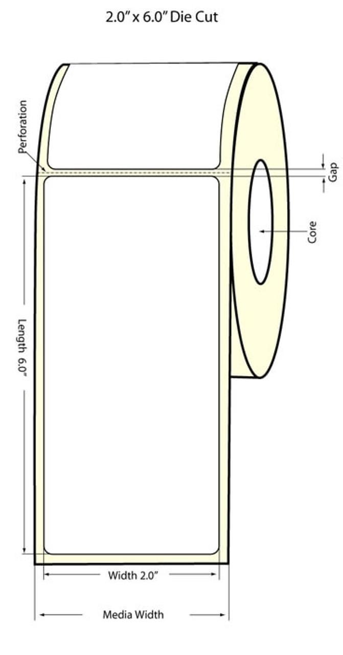 """Epson 2""""x6"""" Matte Labels for TM-C3400 & TM-C3500"""