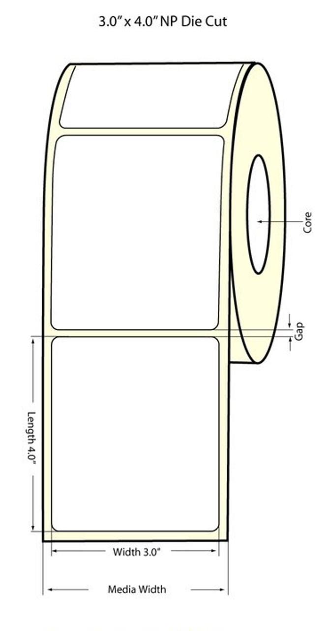 """Epson 3""""x4"""" Matte Labels for TM-C3400 & TM-C3500"""