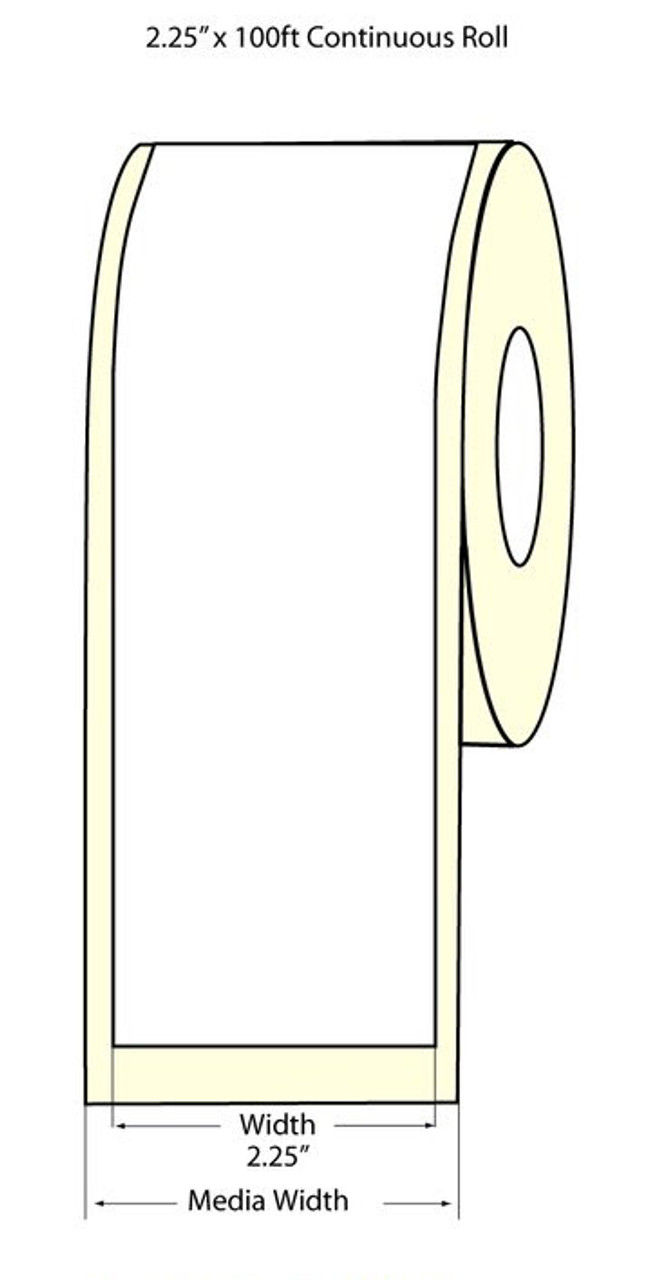 "Epson 2.25"" x 100 Feet Matte Label Roll fro TM-C3400 & TM-C3500"
