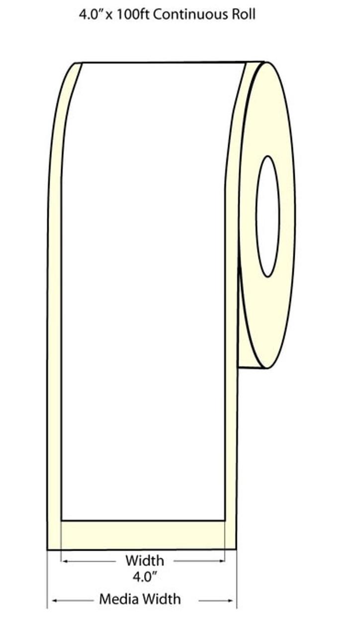 """Epson 4"""" x 100 Feet Matte BOPP Label Roll for TM-C3400 & TM-C3500"""
