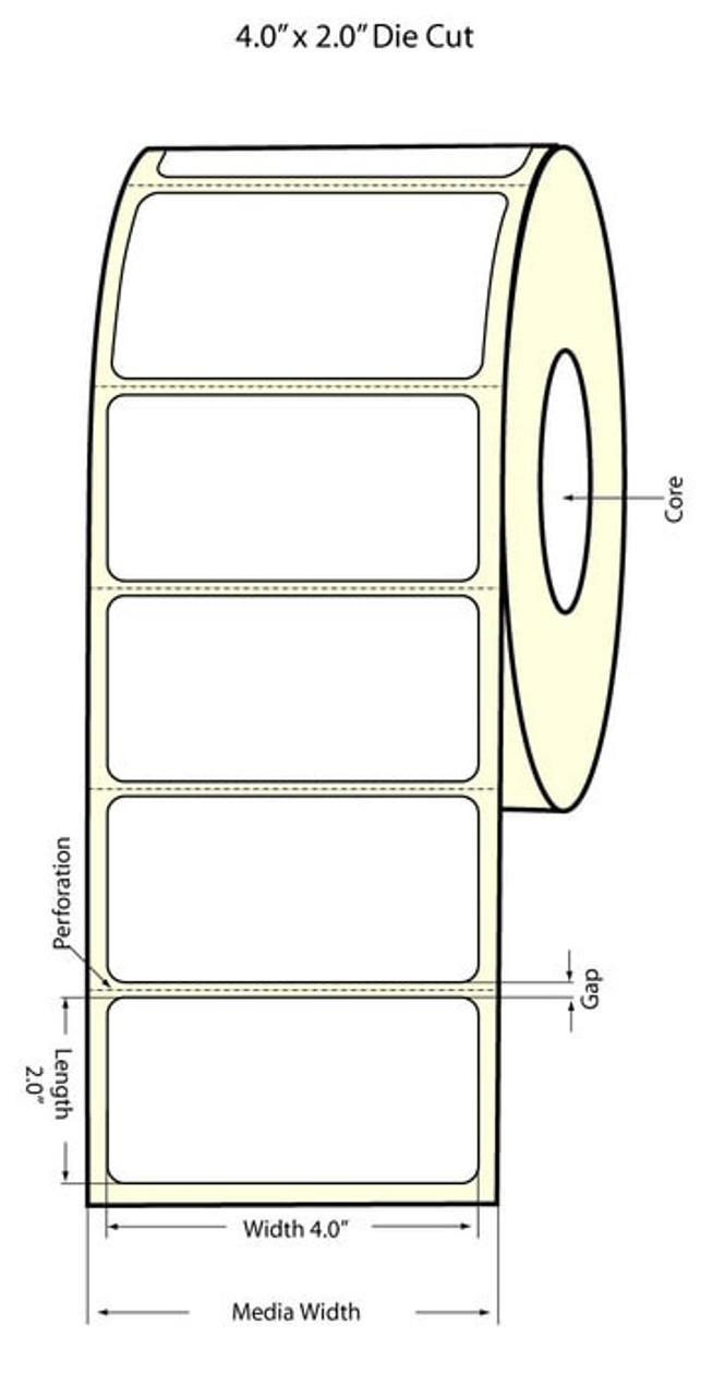 "Epson 4"" x 2"" Matte Polypropylene Labels for TM-C3400 & TM-C3500"