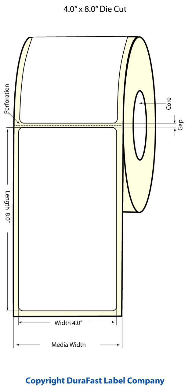 """Epson 4"""" x 8"""" High Gloss Label for TM-C3400 & TM-C3500"""