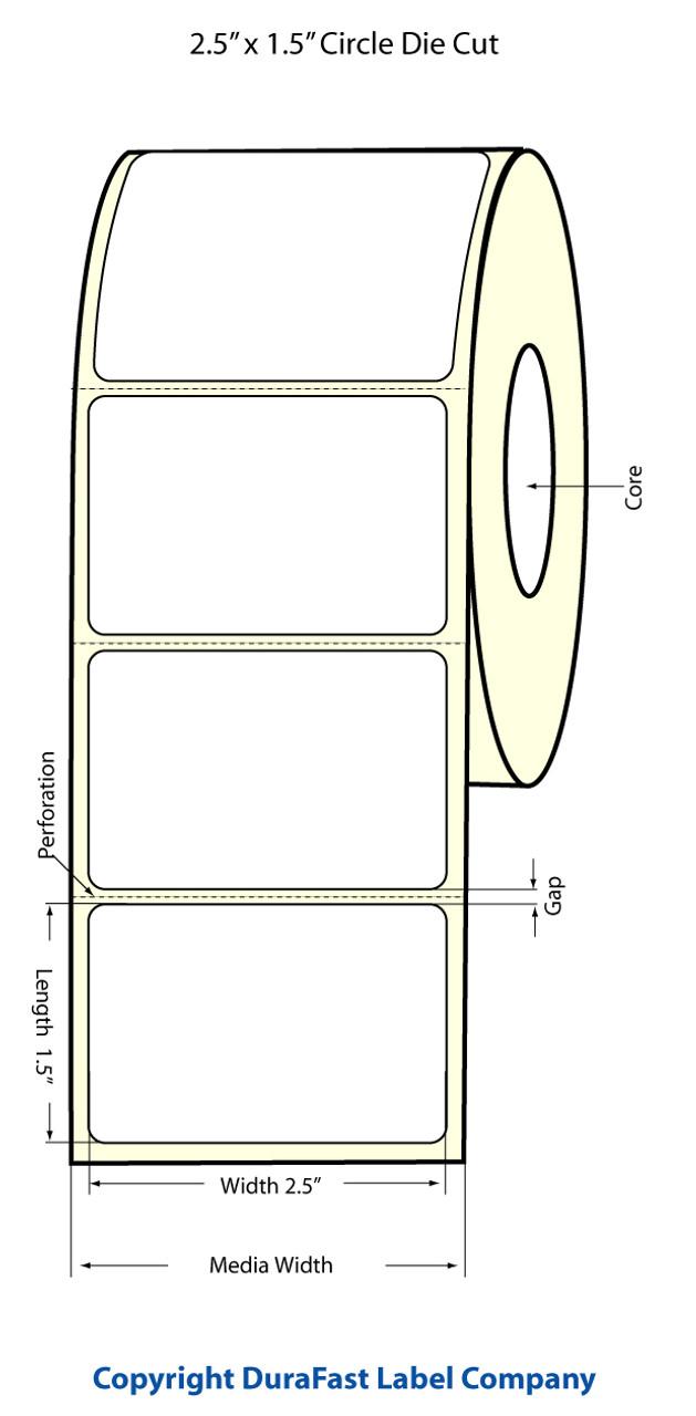 """Epson 2.5"""" x 1.5"""" High Gloss Label for TM-C3400 & TM-C3500"""