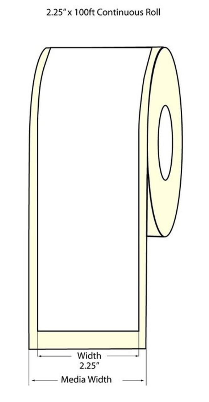 """Epson 2.25"""" x 100 Feet Matte BOPP Label Roll for TM-C3400 & TM-C3500"""
