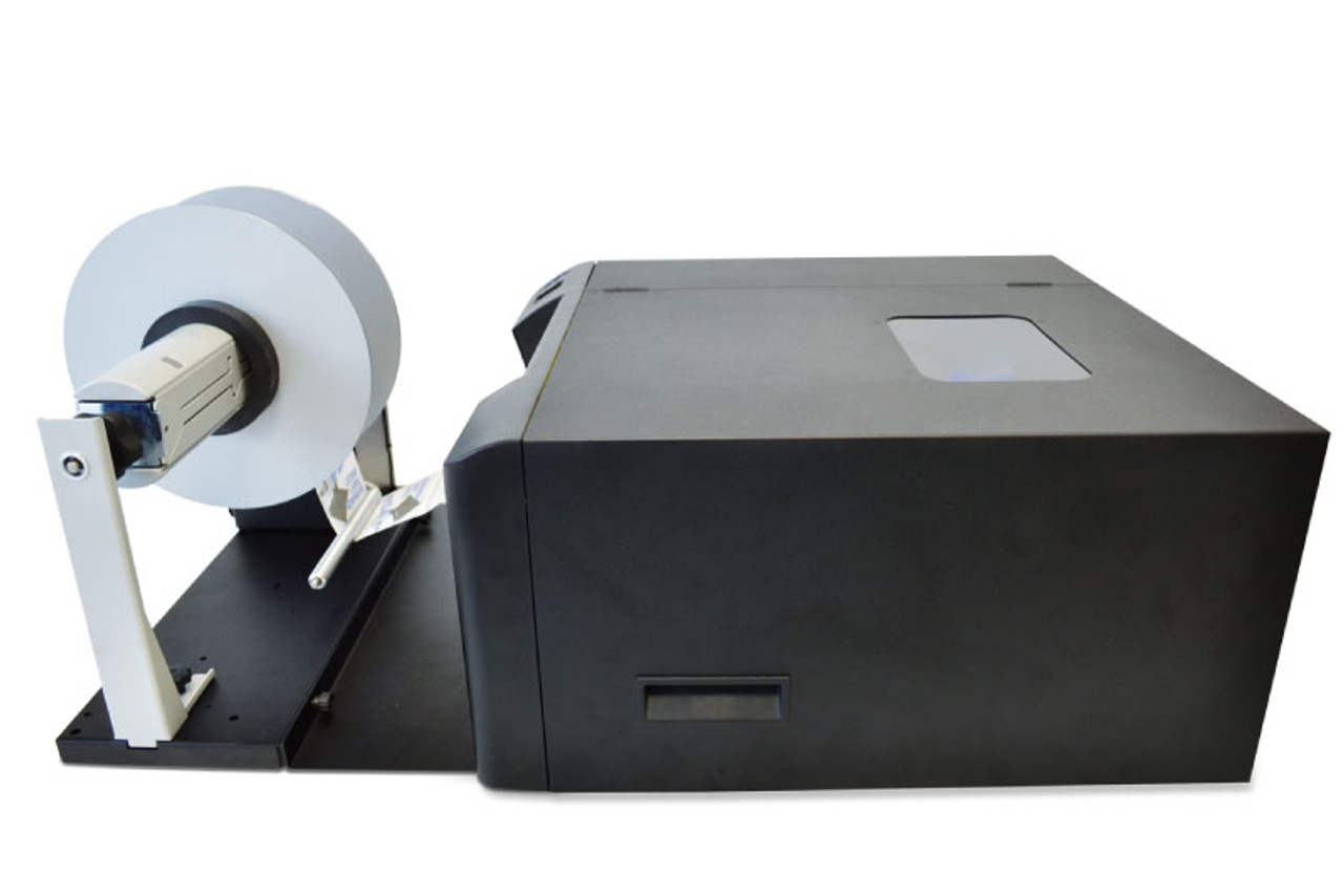Primera LX2000 label printer connected to the LX2000 label rewinder