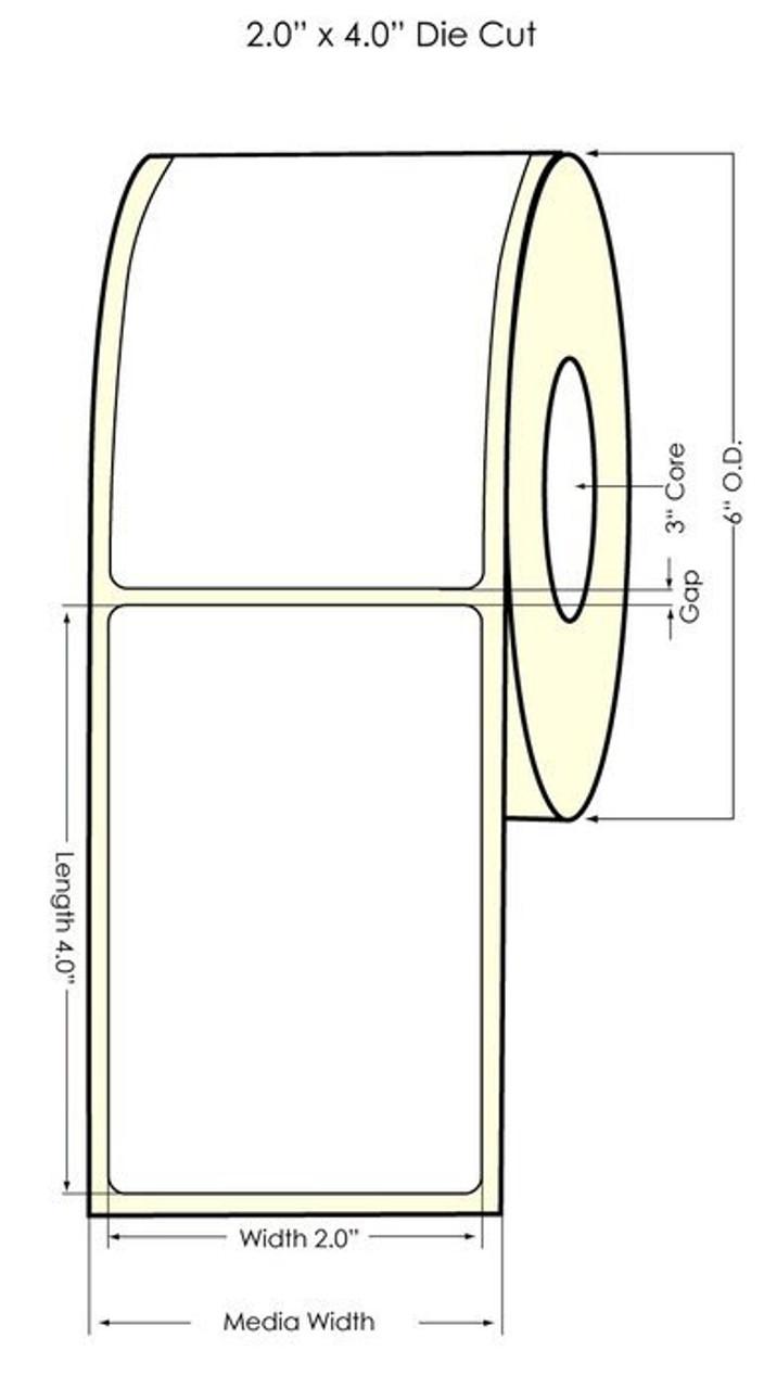 """TM-C7500 Matte Paper - 2"""" x 4"""" NP Label 640/Roll (932033)"""