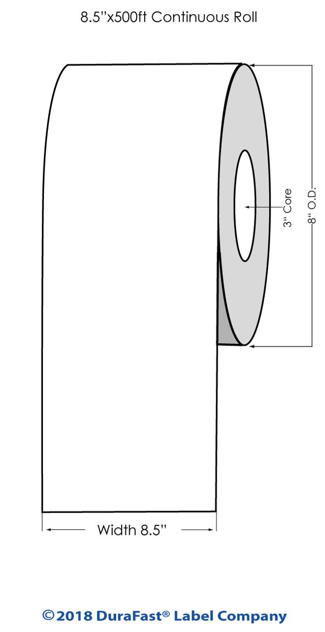 "Laser 700 Semi Gloss Paper #1 8.5"" x 500Ft Roll (683001)"