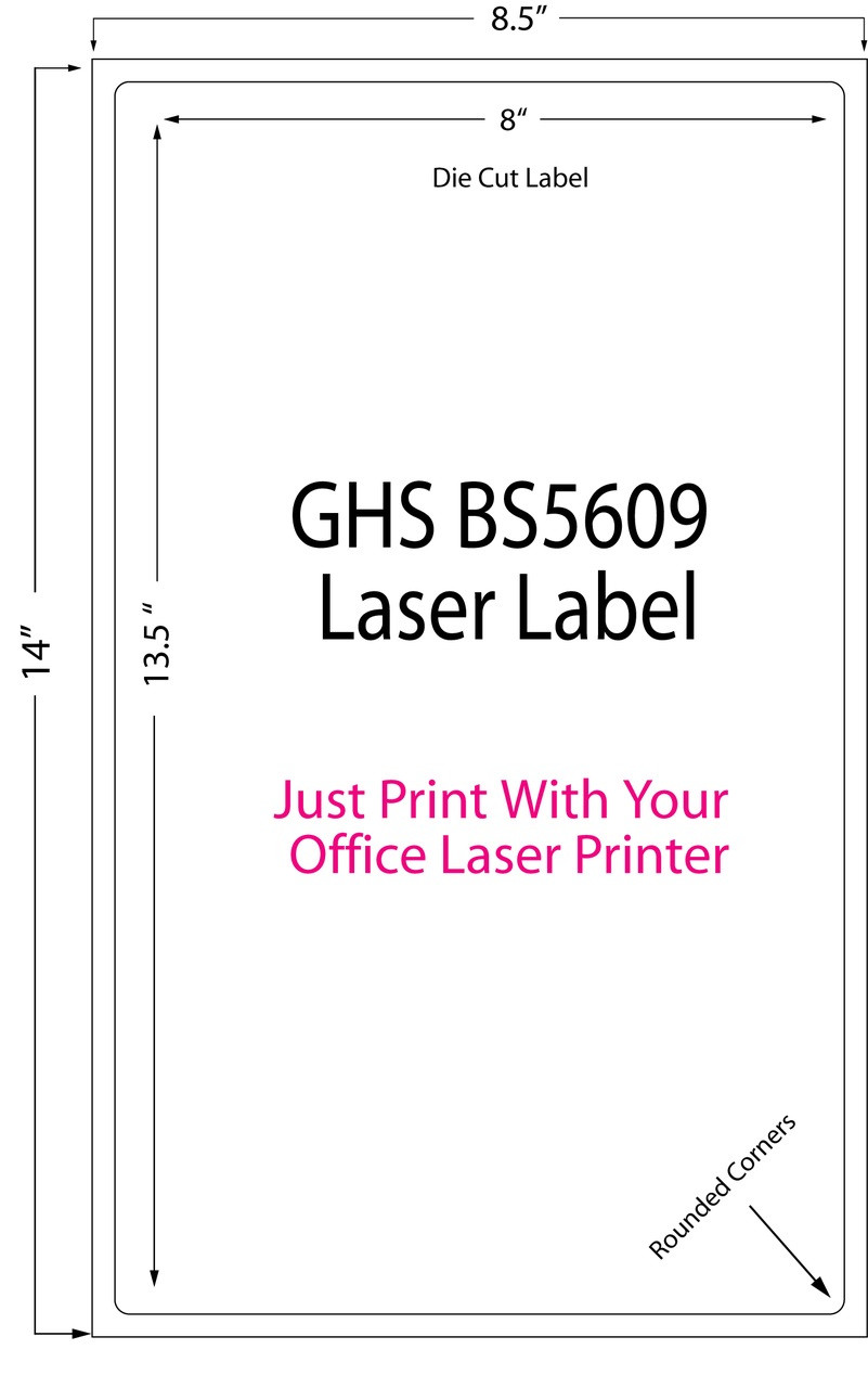 "Laser 8"" x 13.5"" Matte Chemical Sheet Label 250/Pack (697002)"