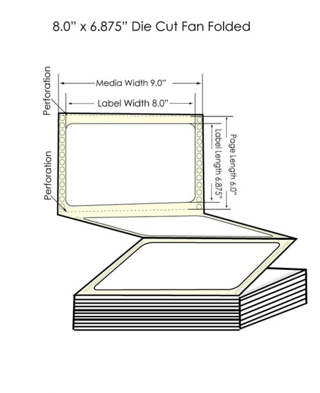 """Epson GP-C831 8"""" x 6.875"""" Matte Paper Labels 1700/Carton (802013)"""