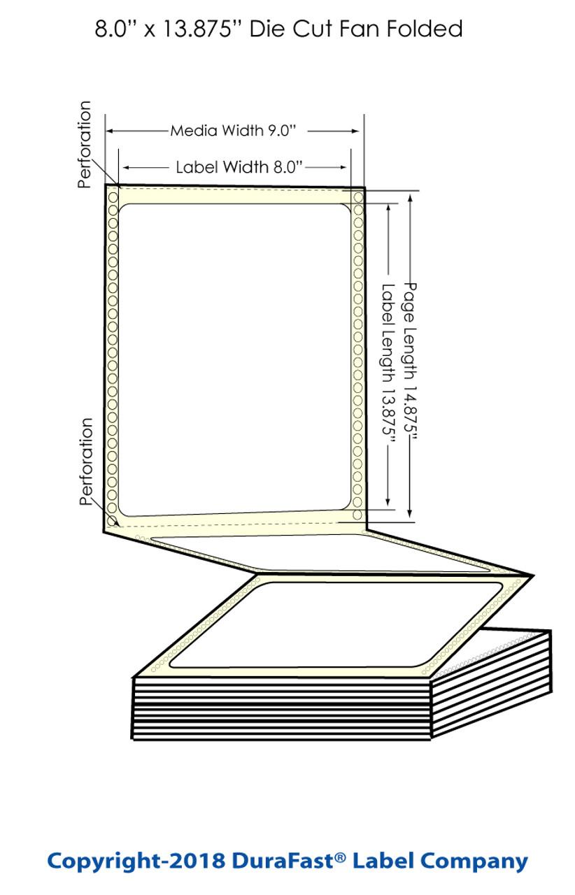 """Epson GP-C831 8"""" x 13.875"""" Chemical Labels 600/Carton (805012)"""