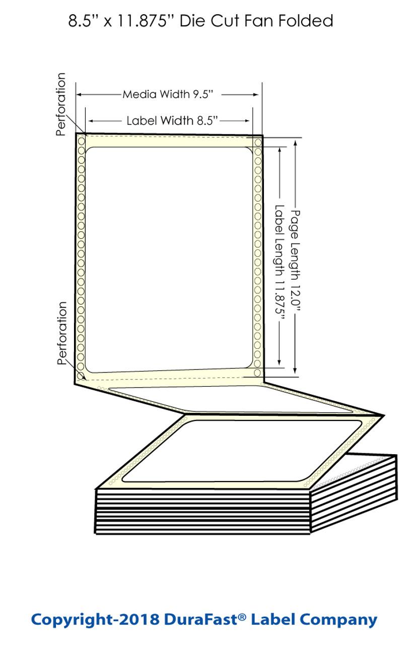 """Epson GP-C831 8.5"""" x 11.875"""" Chemical Labels 600/Carton (805017)"""