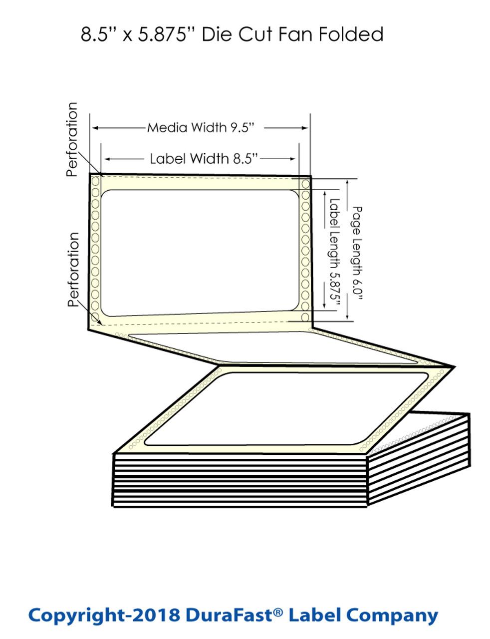 """Epson GP-C831 8.5"""" x 5.875"""" Chemical Labels 1200/Carton (805018)"""