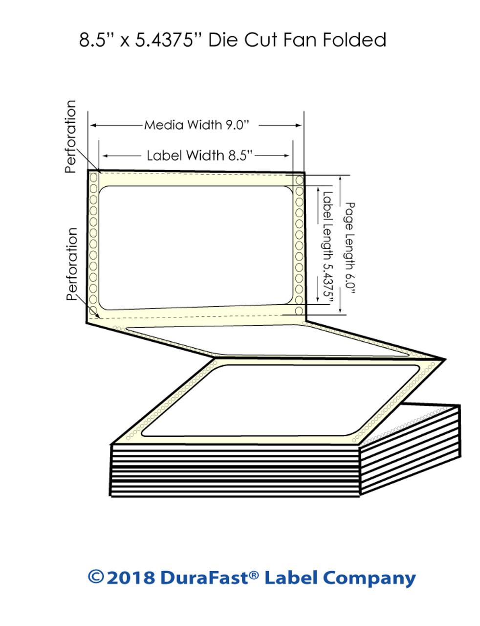 """Epson GP-C831 8.5"""" x 5.4375"""" Chemical Labels 1200/Carton (805026)"""