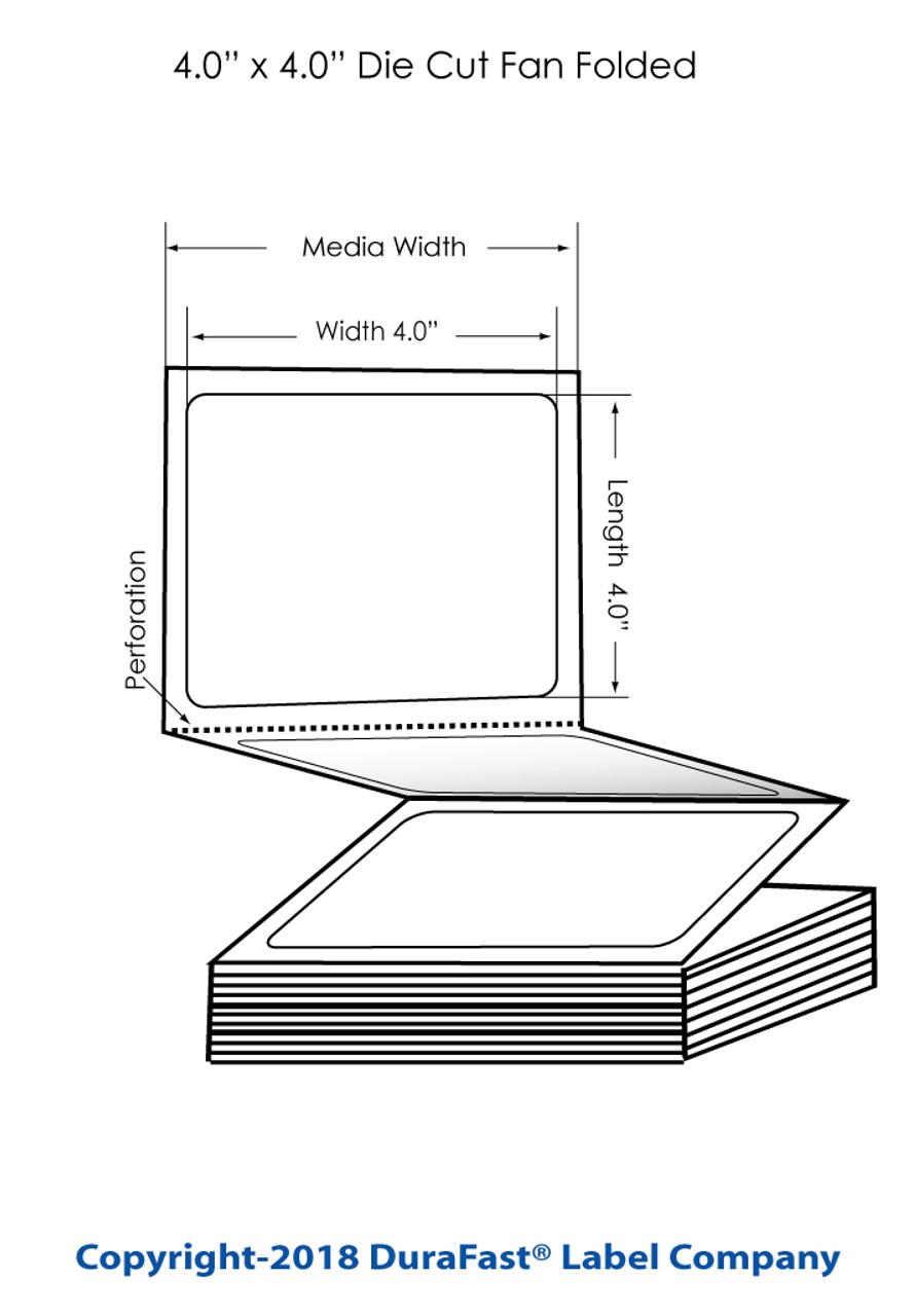 """Epson TM-C3500 4"""" x 4"""" Removable Matte BOPP Label 2000/Carton (814037)"""