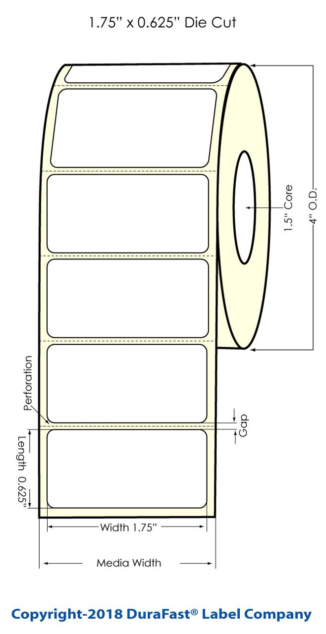 "Epson TM-C3500 1.75"" x 0.625"" Chemical Label 1400 /Roll (815039)"