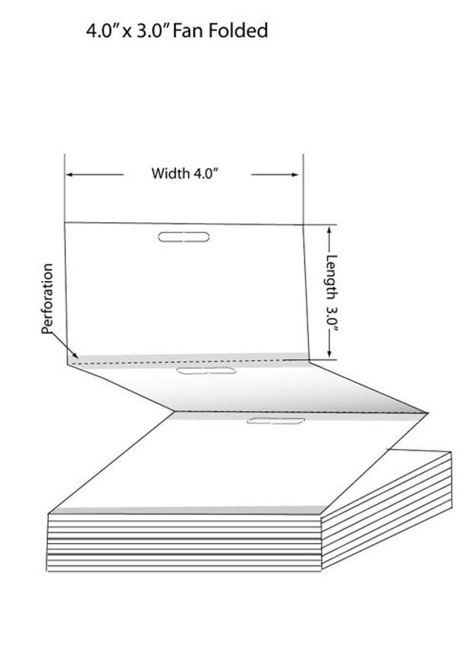 "Epson TM-C3500 4"" x 3"" High Gloss Tags 500/Carton (819010)"