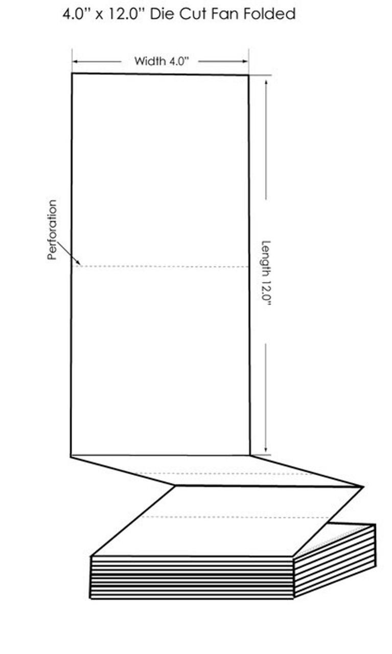 "Epson TM-C3500 4"" x 12"" High Gloss Tags 500/Carton (819013)"