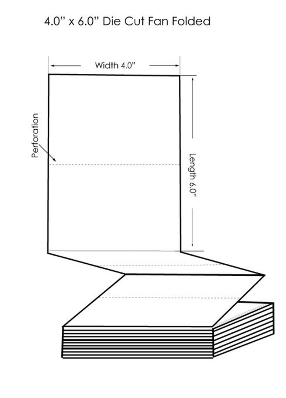 "Epson TM-C3500 4"" x 6"" High Gloss Tags 1000/Carton (819014)"