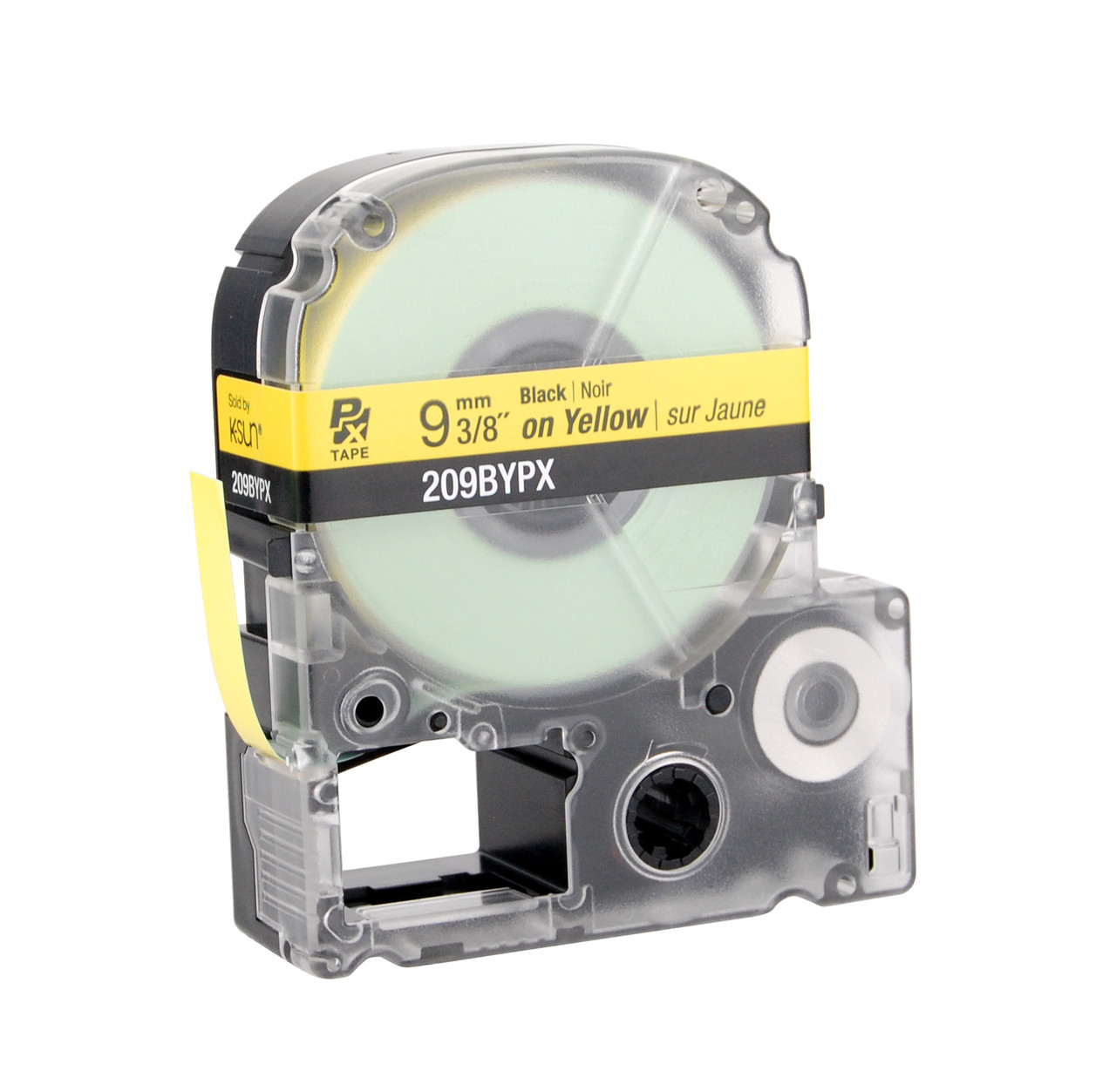"""Epson 209BYPX 3/8"""" Yellow Glossy Polyester Label PX Tape"""