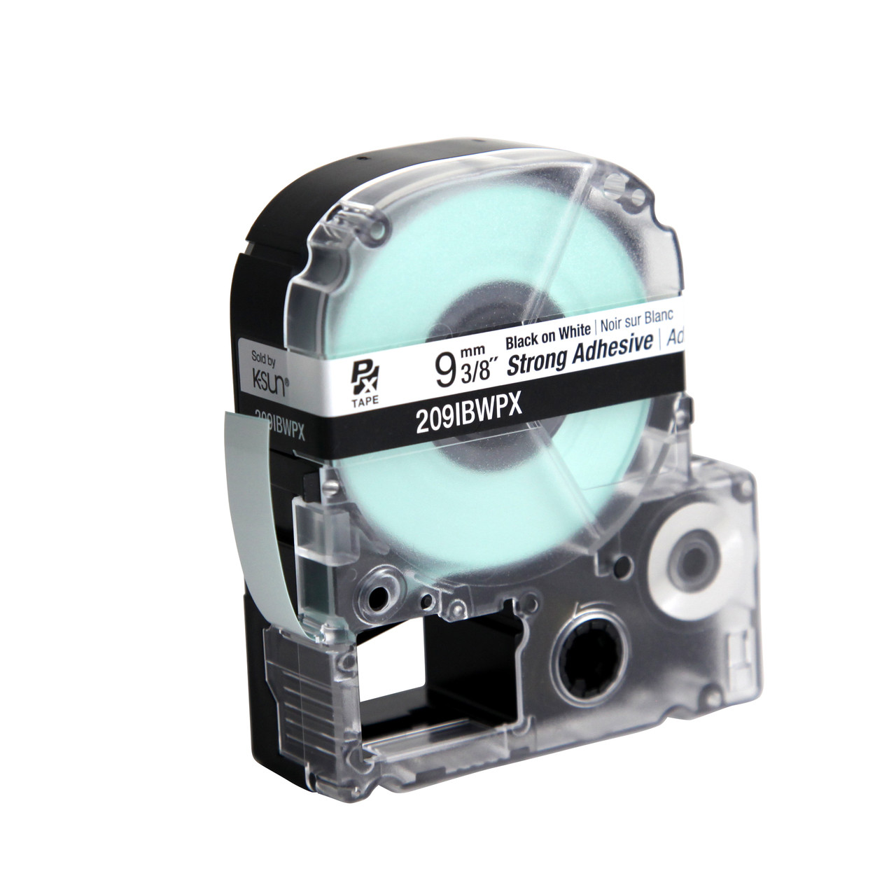 """Epson 209IBWPX 3/8"""" White  Glossy Polyester Label PX Tape"""