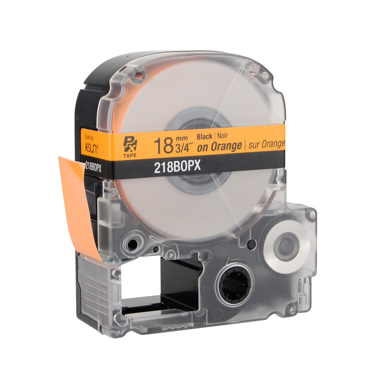 "Epson 218BOPX 3/4"" Orange Glossy Polyester Label PX Tape"