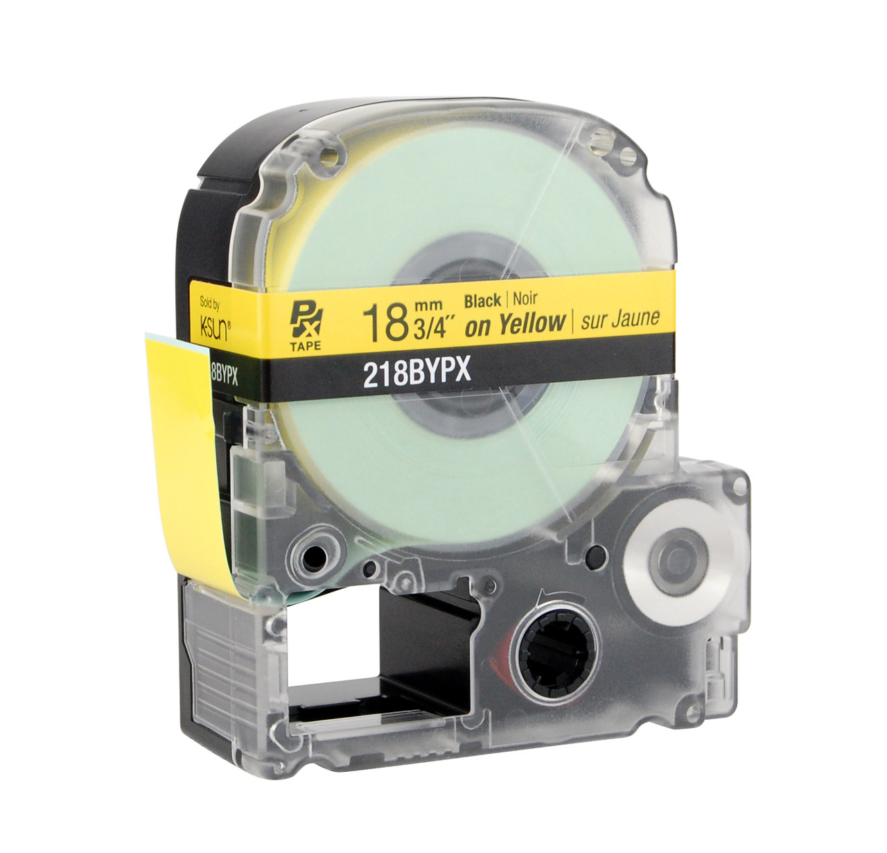 "Epson 218BYPX 3/4"" Yellow Glossy Polyester Label PX Tape"