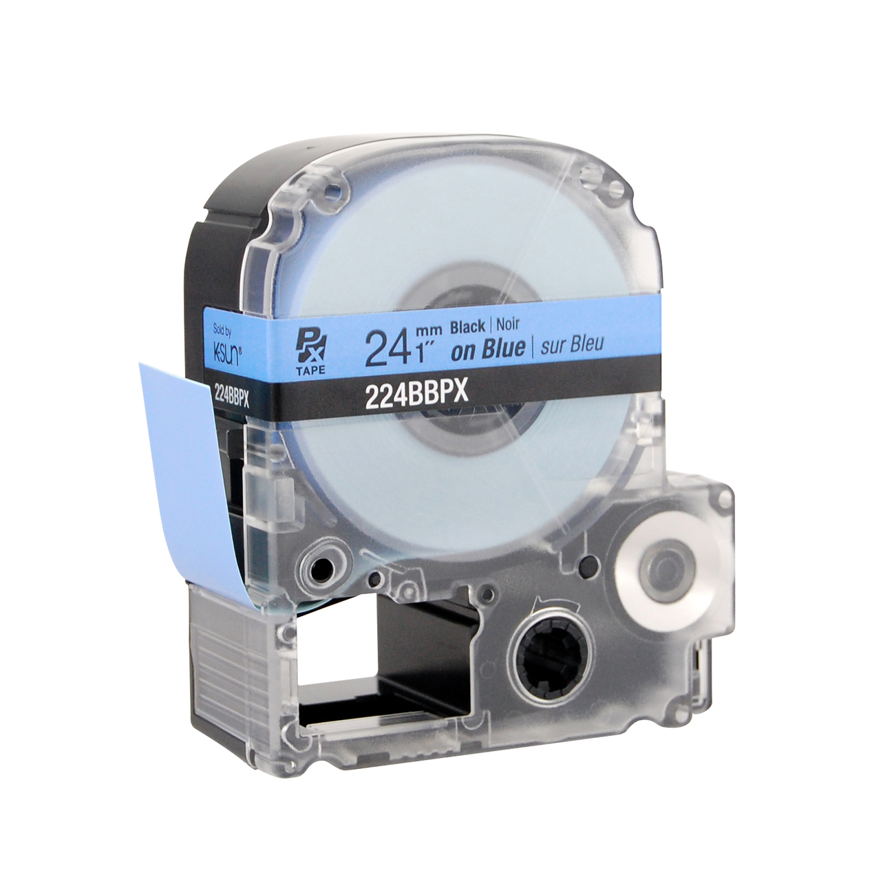 """Epson 224BBPX 1"""" Blue Glossy Polyester Label PX Tape"""