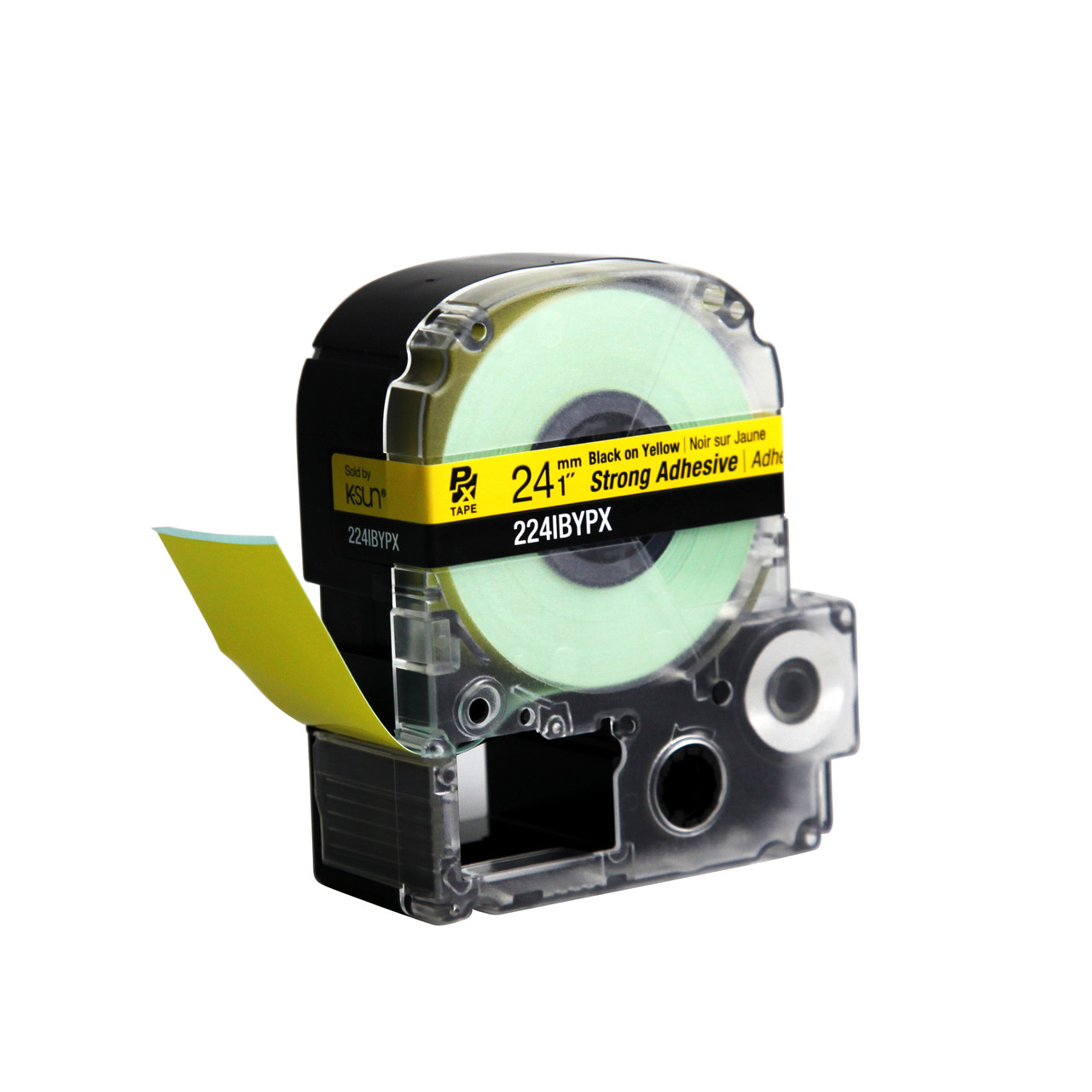 """Epson 224IBYPX 1"""" Yellow Glossy Polyester Label PX Tape"""