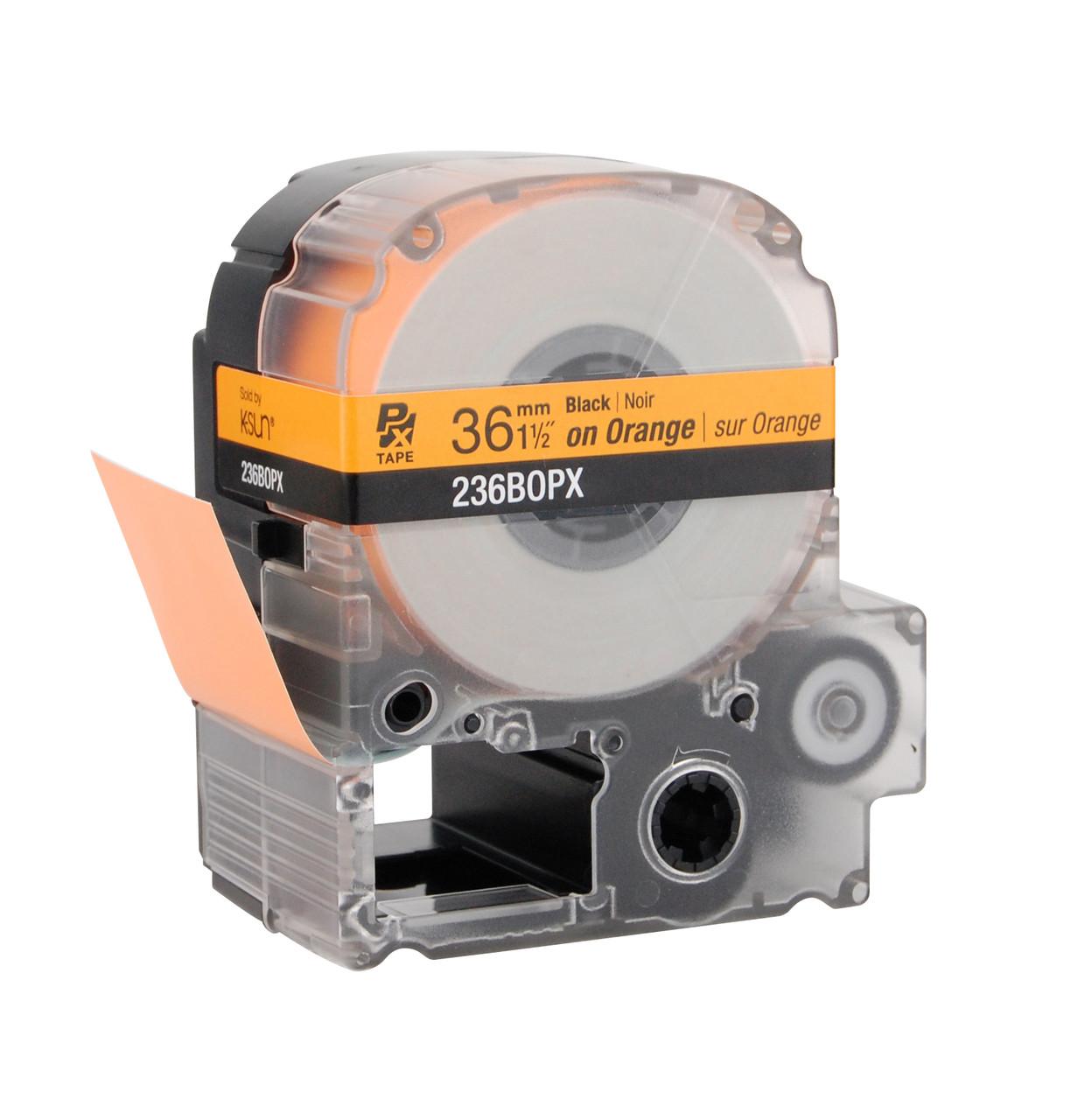 "Epson 236BOPX 1 1/2"" Orange Glossy Polyester Label PX Tape"