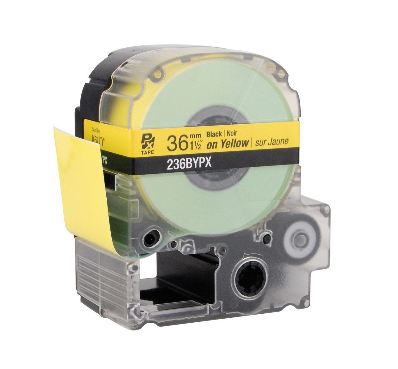 """Epson 236BYPX 1 1/2"""" Yellow Glossy Polyester Label PX Tape"""
