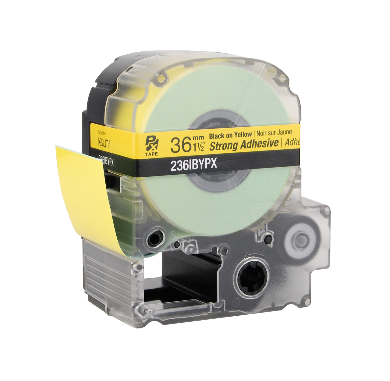 """Epson 236IBYPX 1 1/2"""" Yellow Glossy Polyester Label PX Tape"""