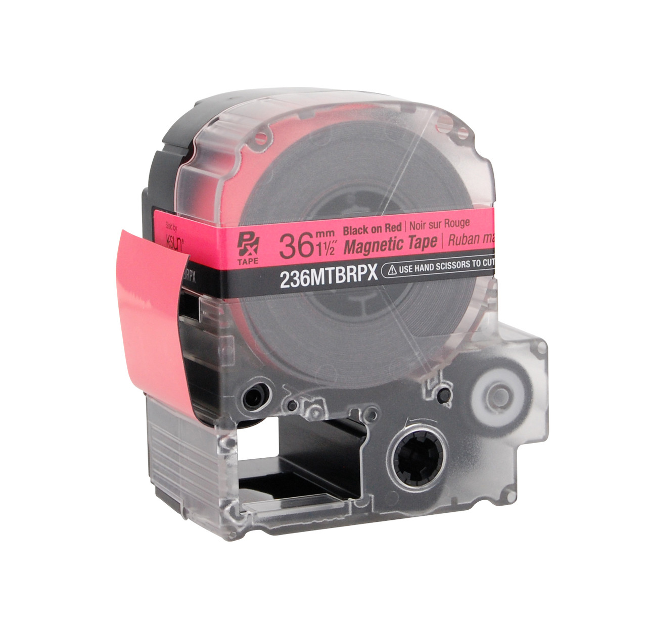 """Epson 236MTBRPX 1 1/2"""" Red Glossy Magnetic PX Tape"""