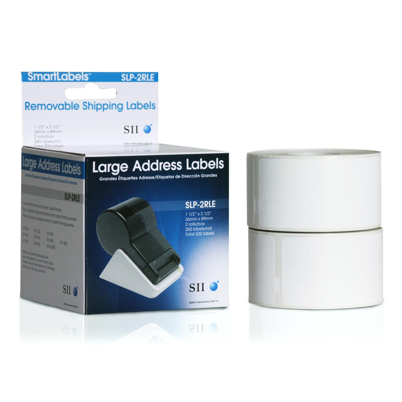 Seiko SLP620/650 1.5 x 3.5 Large Address Inkjet Labels SLP-2RLE
