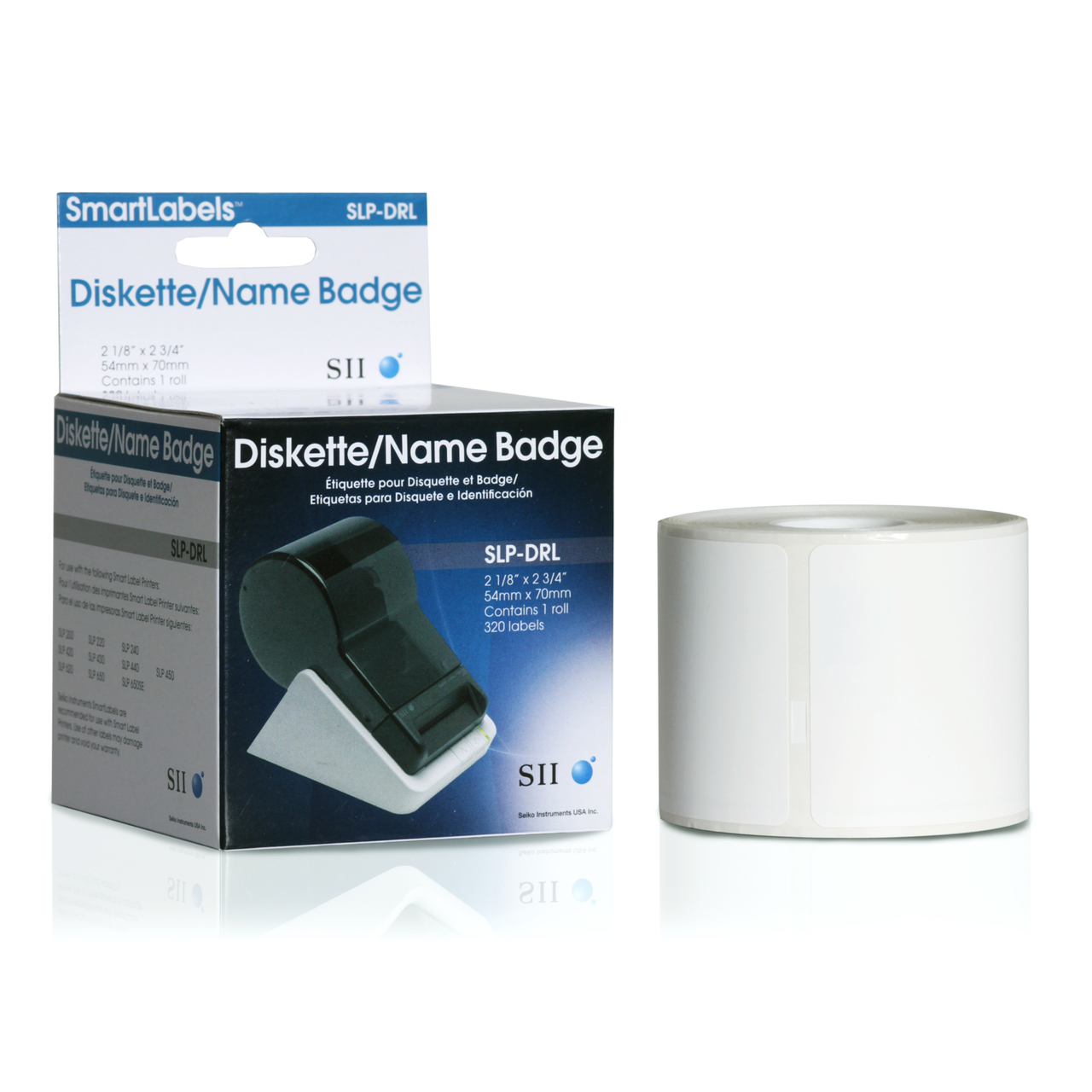 Seiko SLP620/650 2.125 x 2.75 White Media Inkjet Labels SLP-DRL