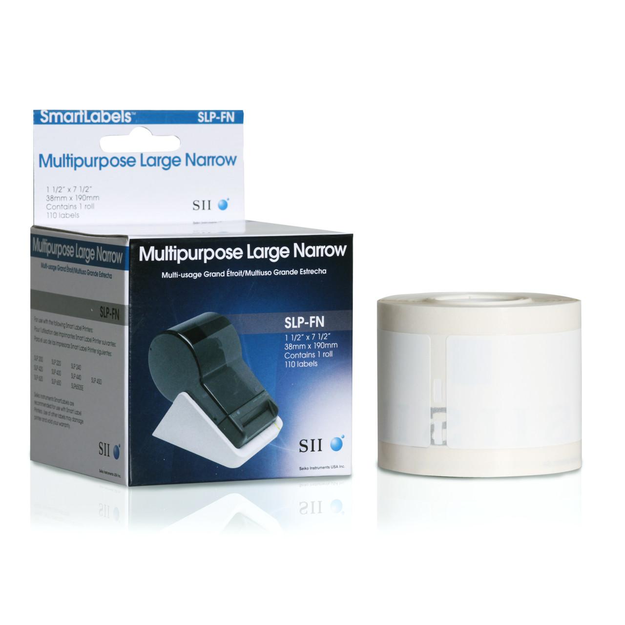 Seiko SLP620/650 1.5 x 7.5 White Multipurpose Inkjet Labels SLP-FN
