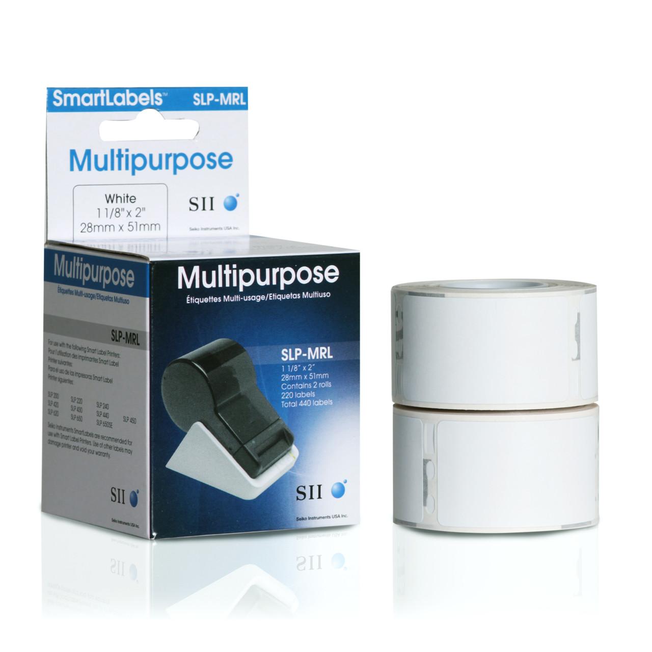 Seiko SLP620/650 1.125 x 2 White Multipurpose Labels SLP-MRL