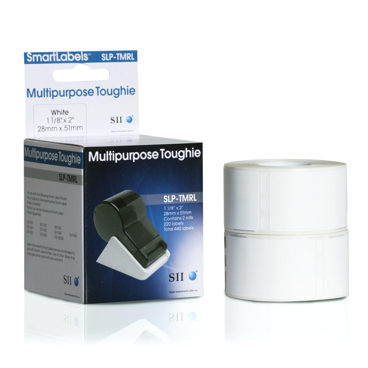 Seiko SLP620/650 1.125 x 2 White Multipurpose Inkjet Labels SLP-TMRL