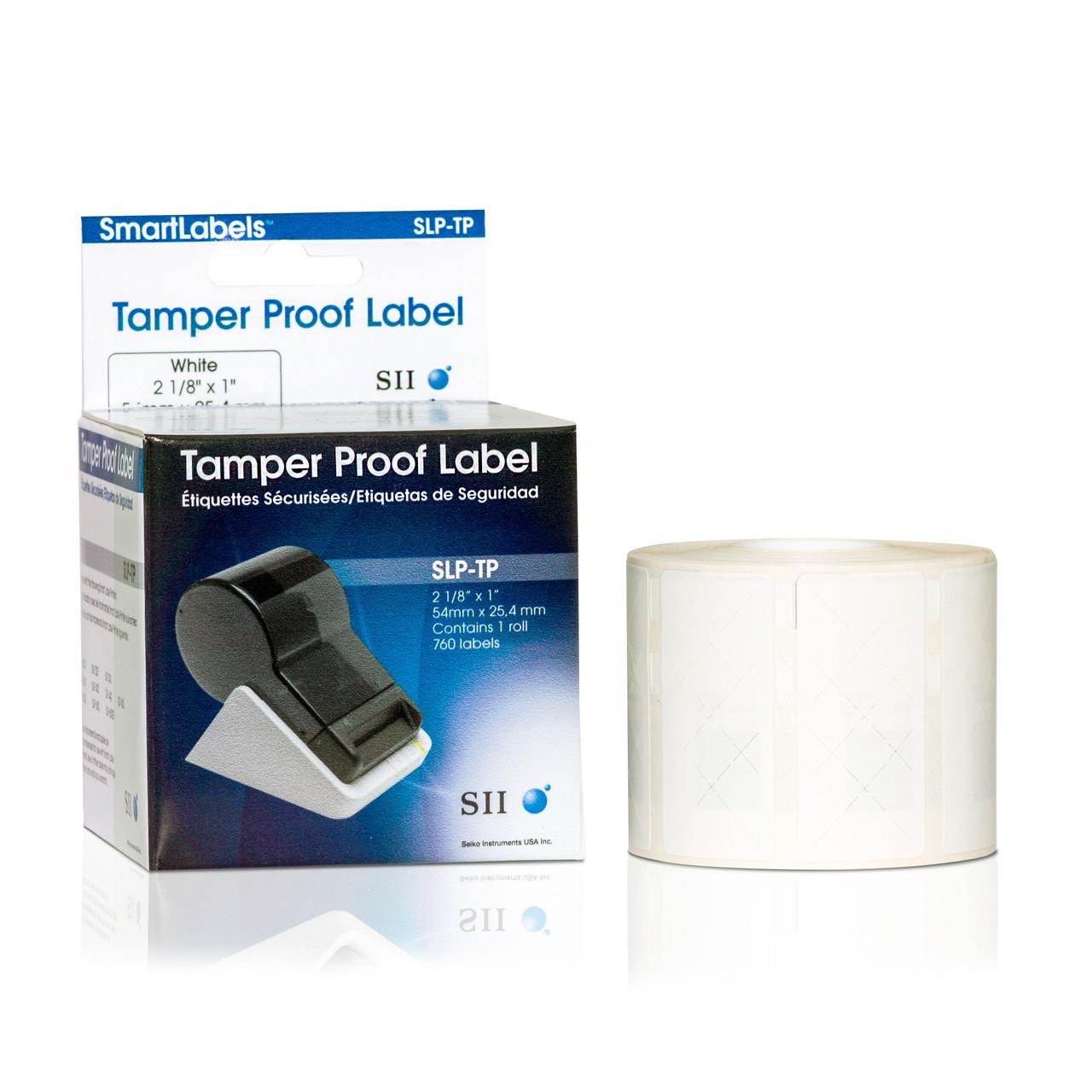Seiko SLP620/650 1.125 x 1 White Security Inkjet Labels SLP-TP
