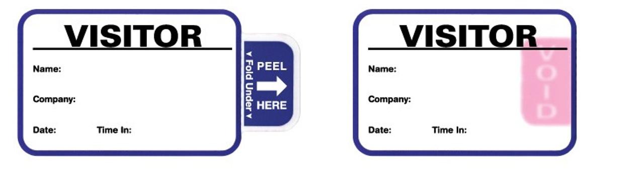 "VisitorPass 3"" x 2"" TAB Expiring Direct Thermal Name Badges"
