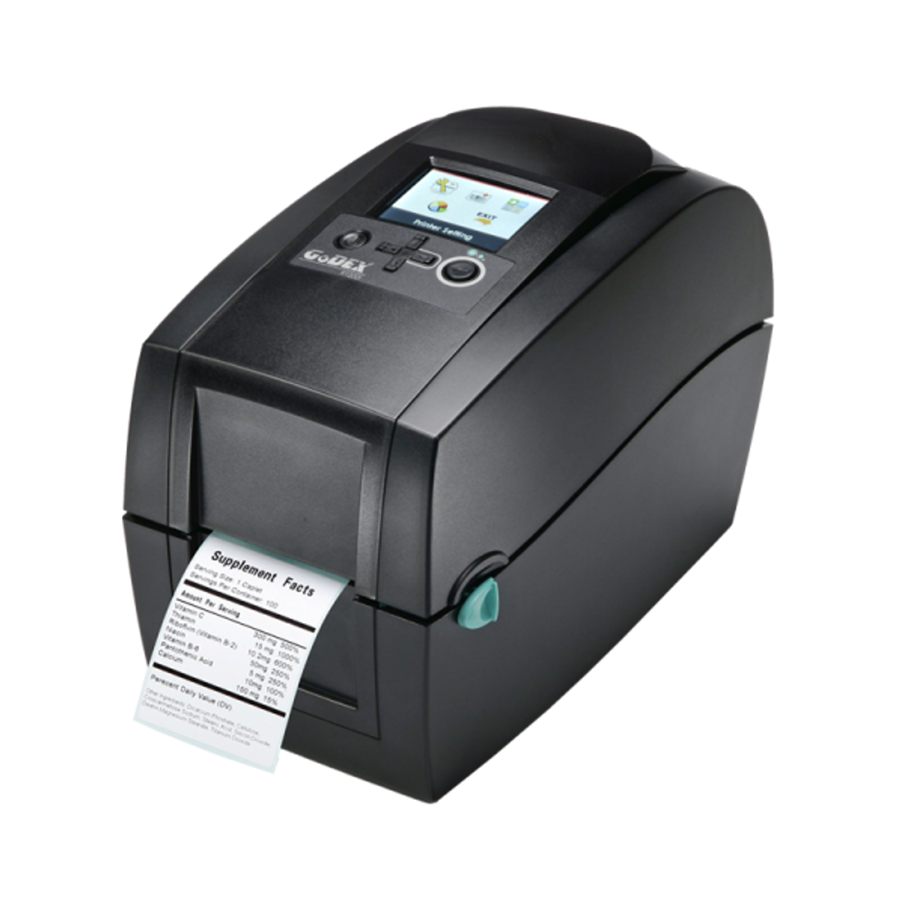"""Godex RT230i 2"""" Thermal Transfer Barcode Label Machine with Color Display, 300 dpi, 5 ips"""