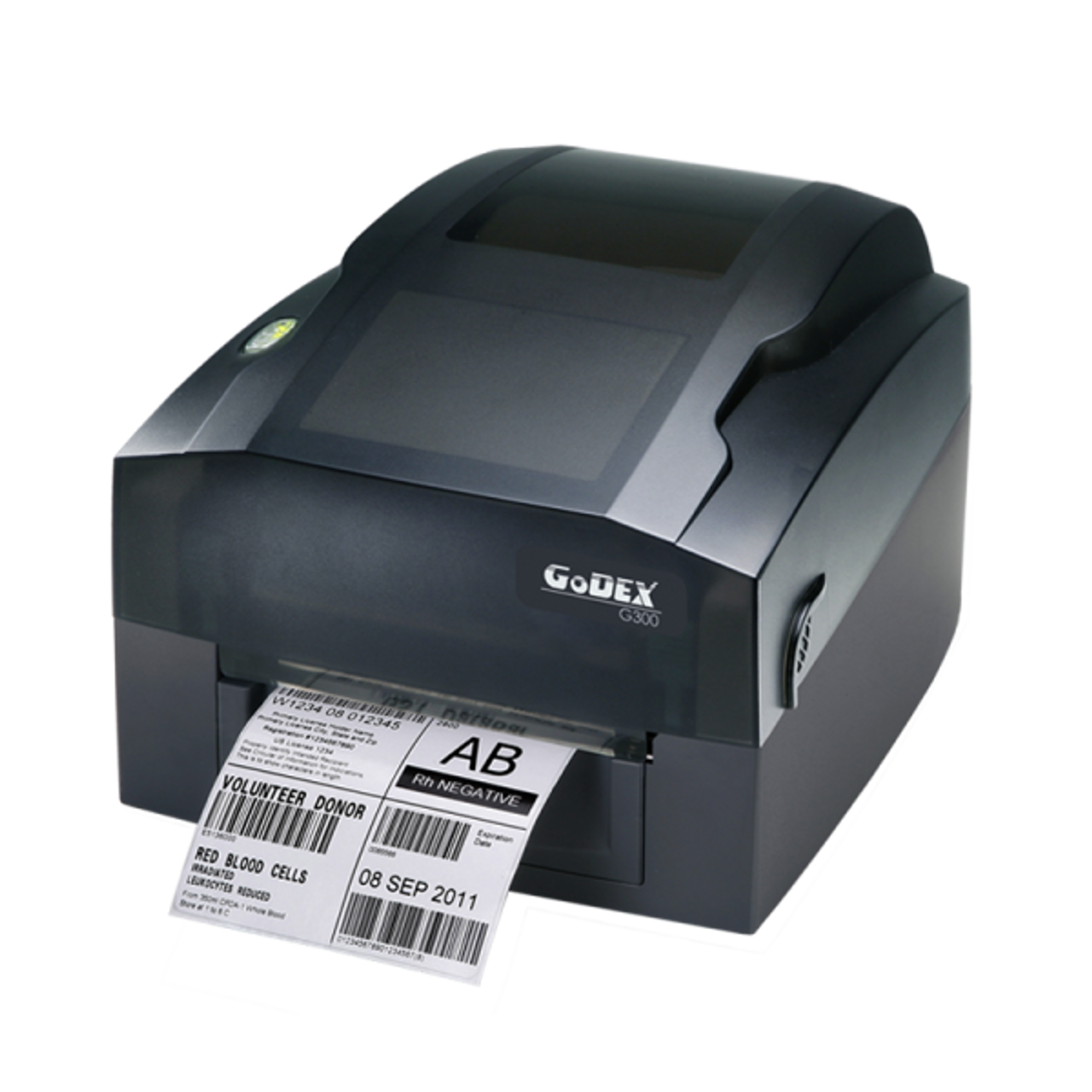 "Godex G300 4"" Thermal Transfer Barcode Label Machine, 203 dpi, 4 ips"