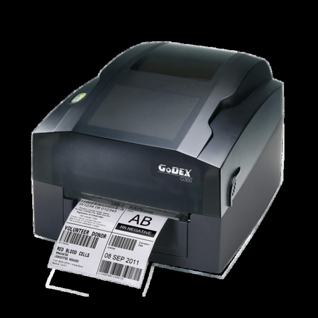 "Godex G300 4"" Thermal Transfer Barcode Label Machine, 203 dpi, 4 ips"
