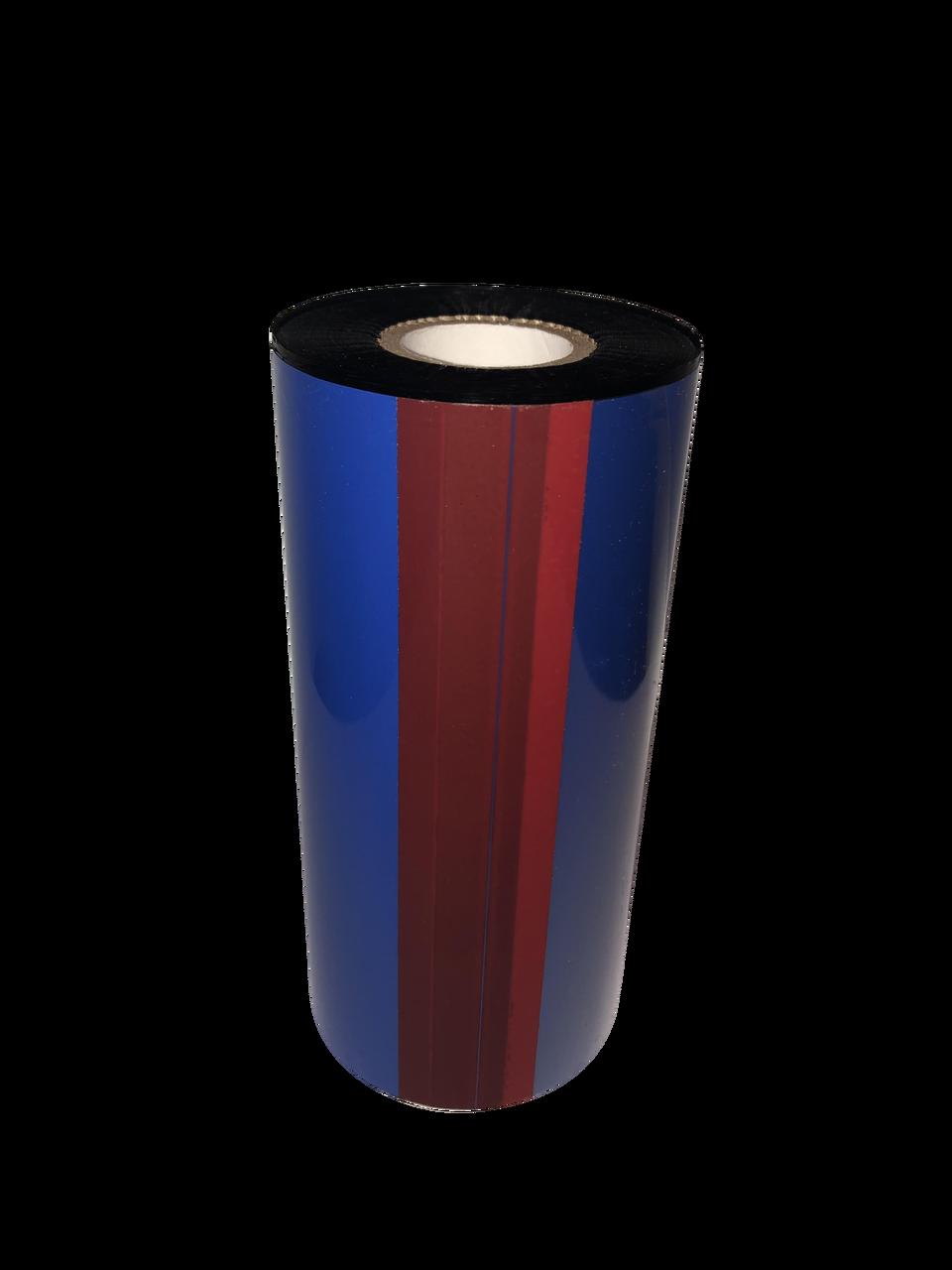 "Zebra 1""x1476 ft TR4085plus Resin Enhanced Wax-36/Ctn thermal transfer ribbon"