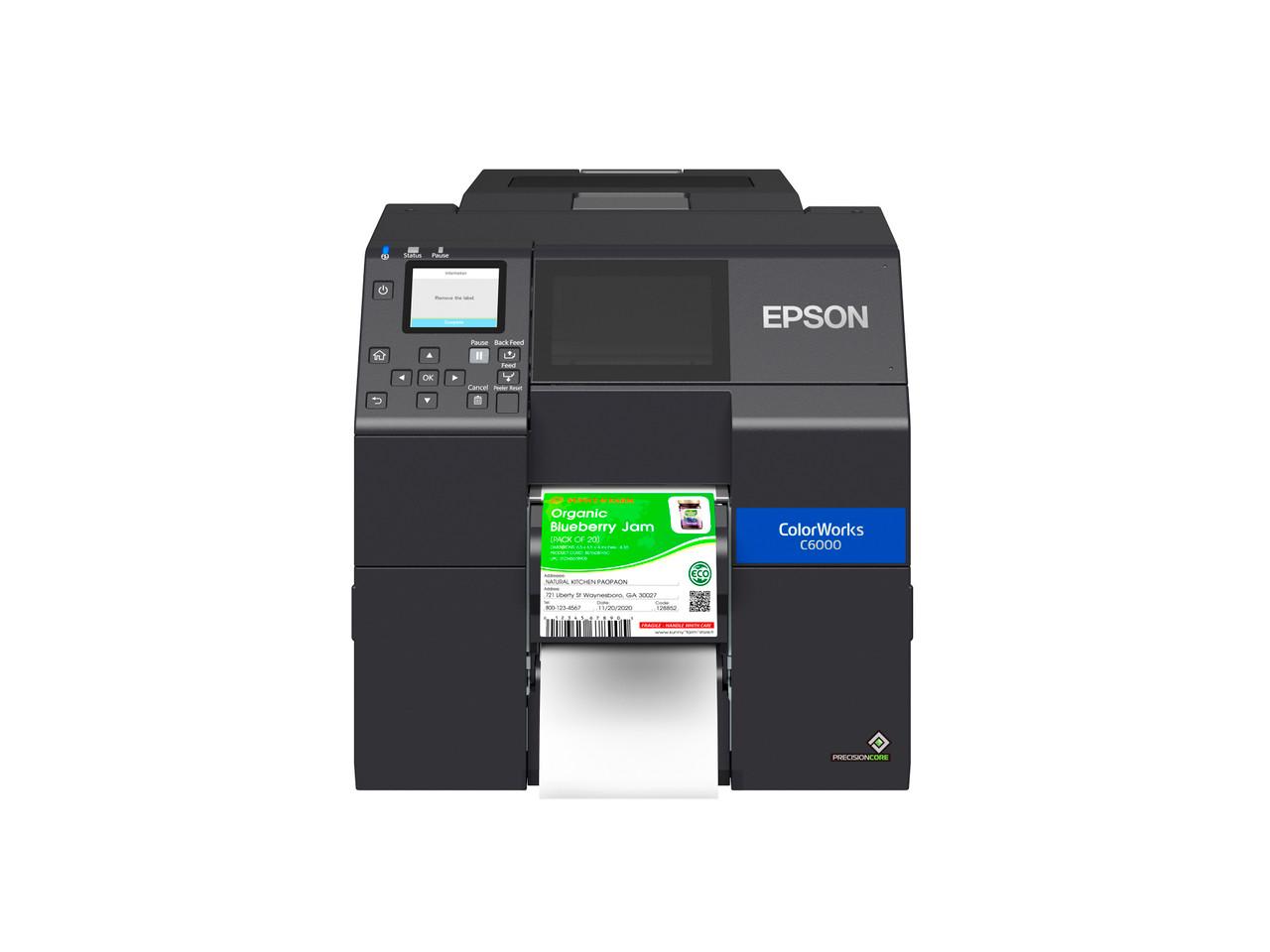 Epson ColorWorks C6000P 4 inch color label printer - Peeler
