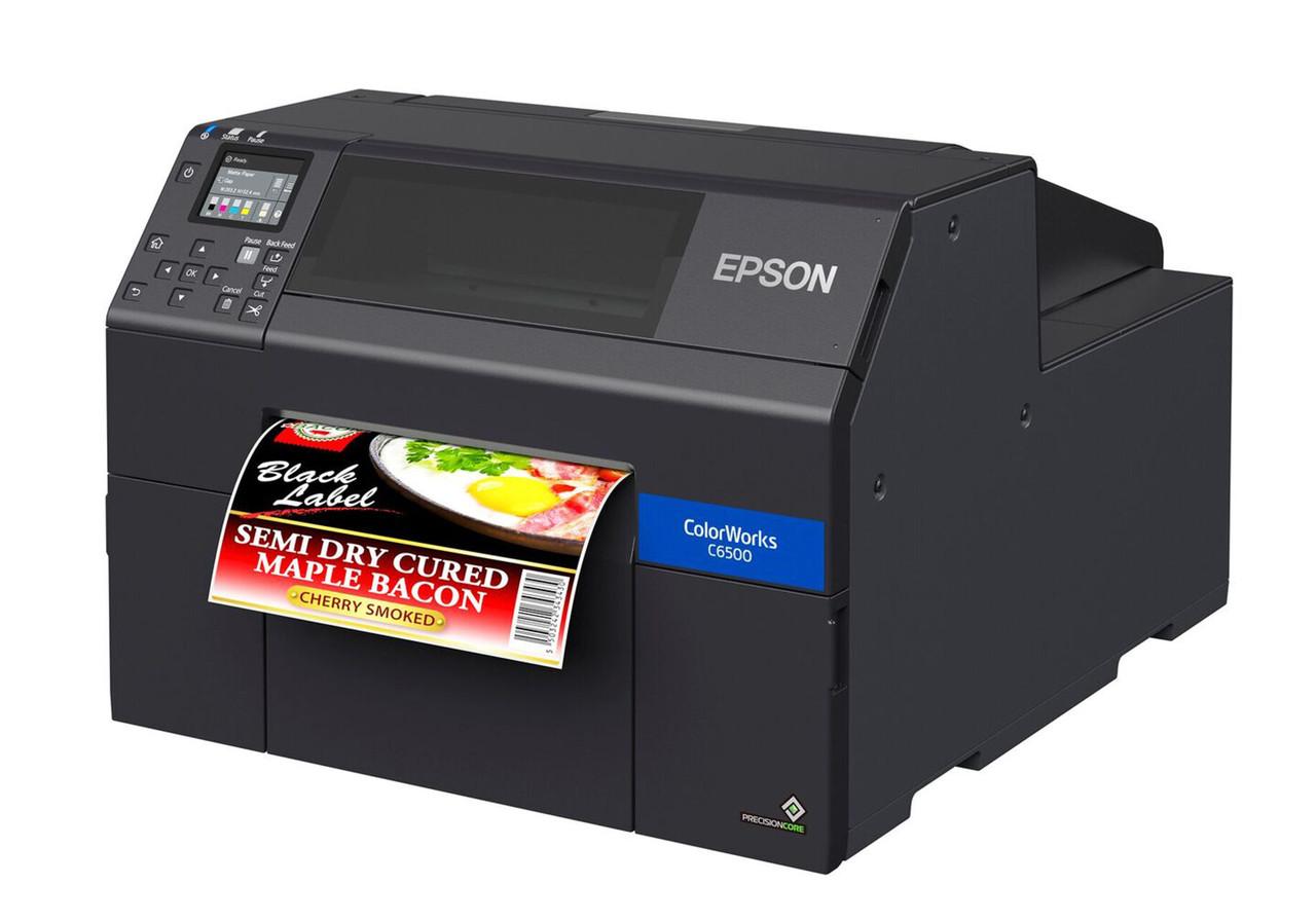 Epson ColorWorks C6500A 8 inch color label printer - Autocutter (C31CH77101)