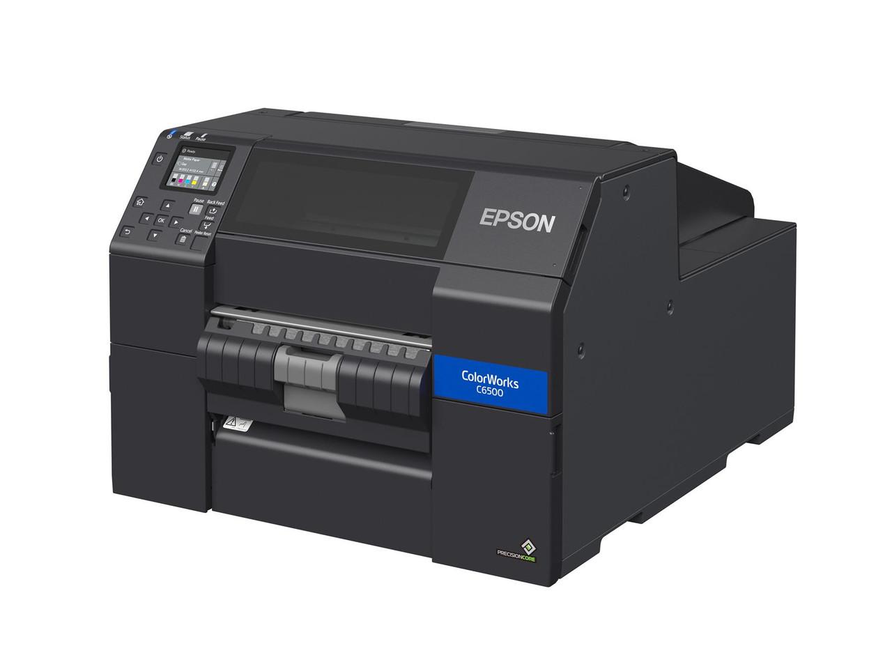"""Epson ColorWorks C6500P Matte 8"""" Color Label Printer-Peeler C31CH77A9961"""