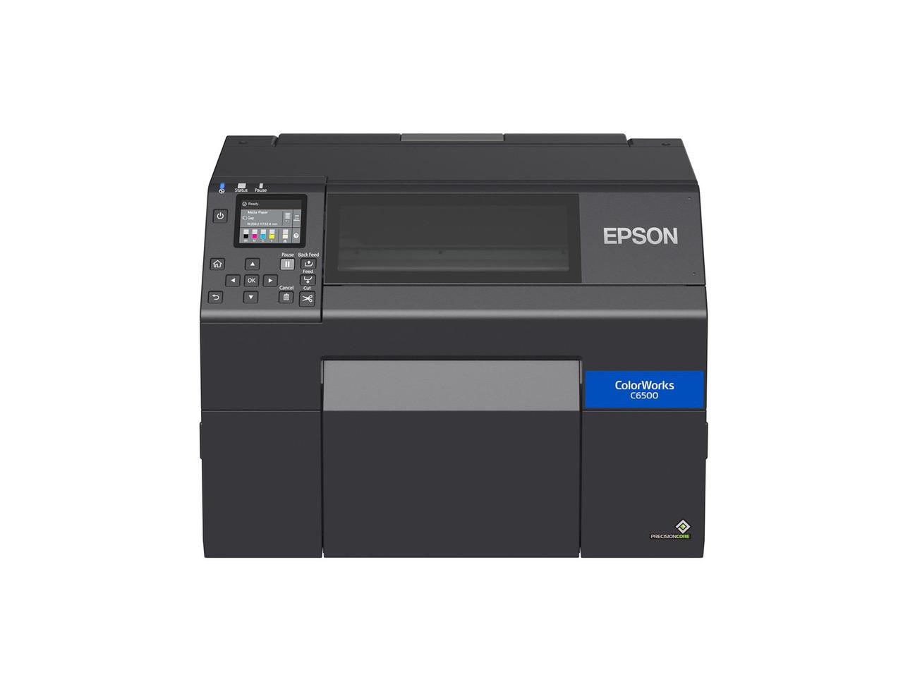 """Epson ColorWorks C6500A Matte 8"""" Color Label Printer-Autocutter C31CH77A9981"""