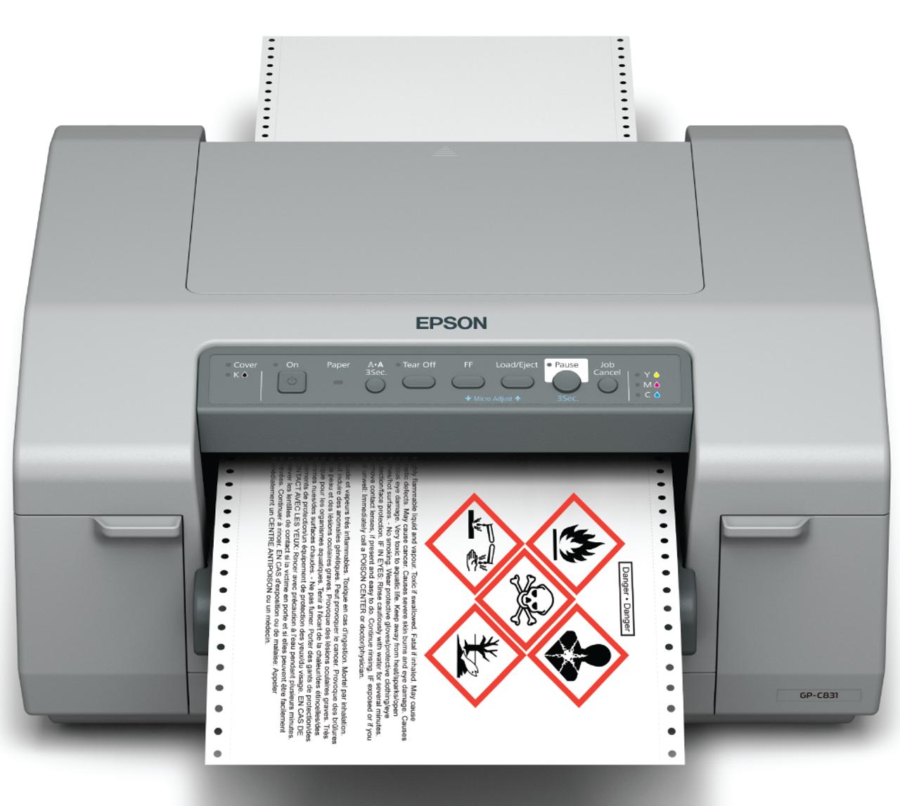 Epson GP-C831 Label Printer | Drum Label Printer C11CC68A9971