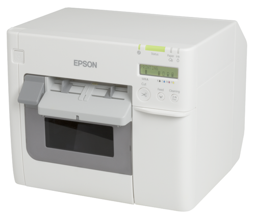 Epson ColorWorks TM-C3500 color label printer - front view -