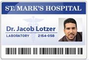 Medical ID Name Badge